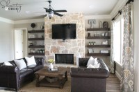 DIY Floating Shelves for my Living Room - Shanty 2 Chic