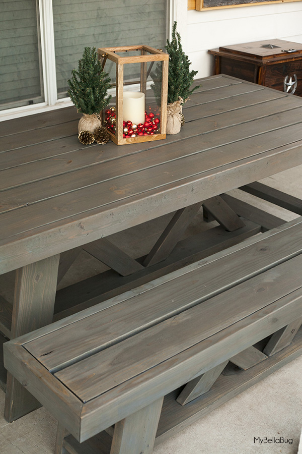 Diy Outdoor Patio Table Benches Shanty 2 Chic