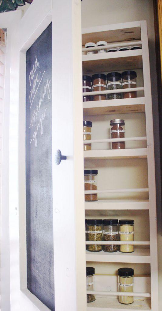 Chalkboard Spice Rack Shanty 2 Chic