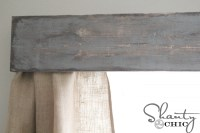 DIY Wooden Window Cornice - Shanty 2 Chic