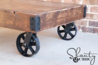DIY Factory Cart Coffee Table - Shanty 2 Chic