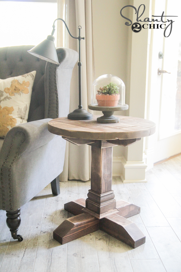 Diy Round Side Table - Shanty 2 Chic