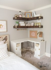DIY Floating Corner Shelves - Shanty 2 Chic