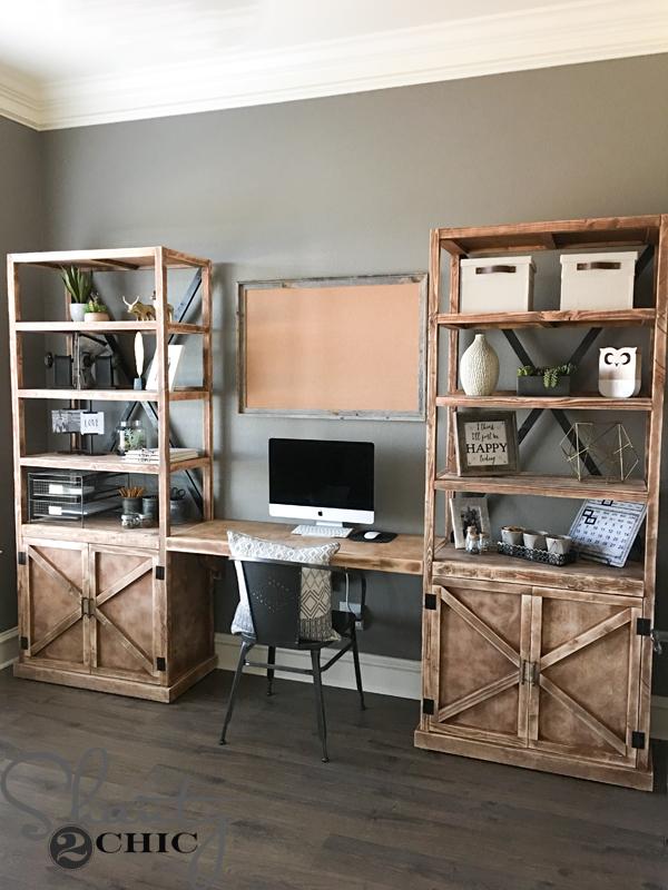 DIY Office Desk System - Shanty 2 Chic