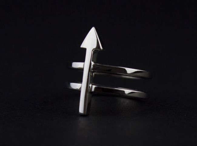 arrow 3d printed ring hipster minimalist jewelry