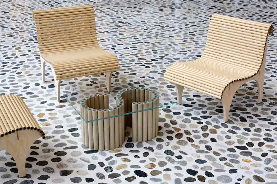 Shigeru Ban\u0027s CARTA collection for wb form is made of paper tubes