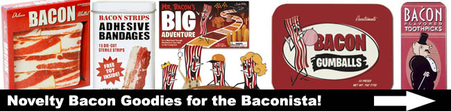 Bacn.com brings you BACON novelty items