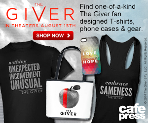 15% off all The Giver merchandise. Use code GIVERGEAR