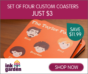 Four Custom Coasters - Just $3!