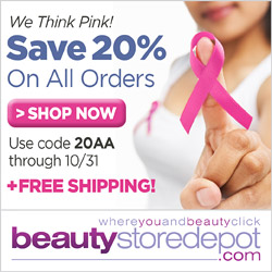 20% Off + Free Shipping at beautystoredepot.com, code 20AA