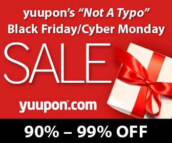 "Yuupon's ""Not A Typo"" Black Friday/ Cyber Monday Sale"