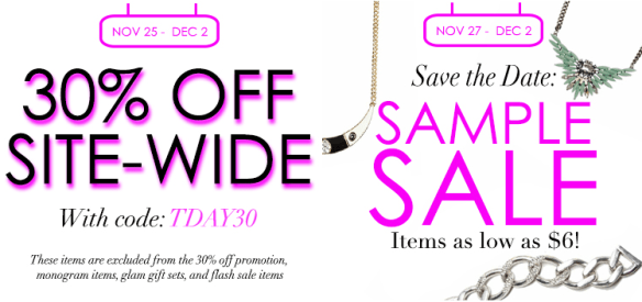 ScreenShot2013 11 20at10 00 Over 30 Pre Thanksgiving Fashion Coupon Codes and Discounts!