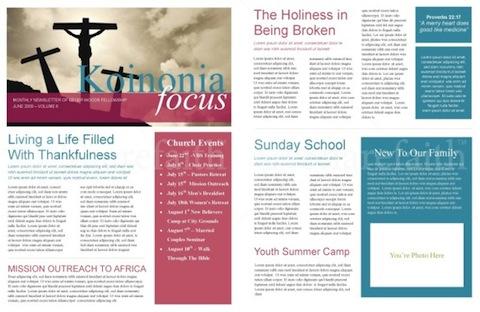 printed newsletter templates - Onwebioinnovate