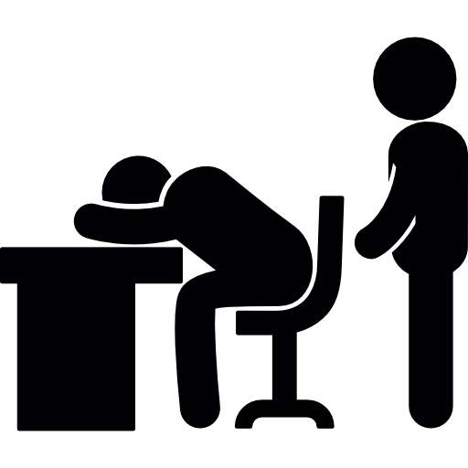 3d Wallpaper For Desktop Icon Office Tired Desk Sleepy People Sleep Businessman Icon