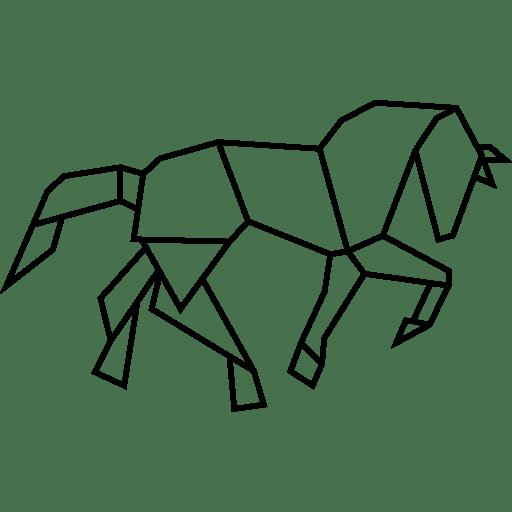 3d Geometric Shapes Wallpaper White Forming Shape Shapes Polygons Horses Polygonal Horse