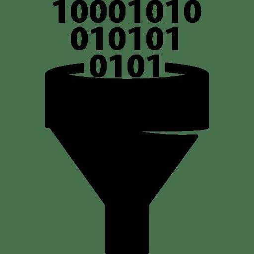 Wallpaper Laptop 3d Binary Funnel Binary Code Data Data Analytics Icon