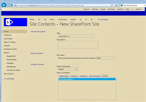 SharePoint Branding - Team Sites, Inherit Theme and Master Page on