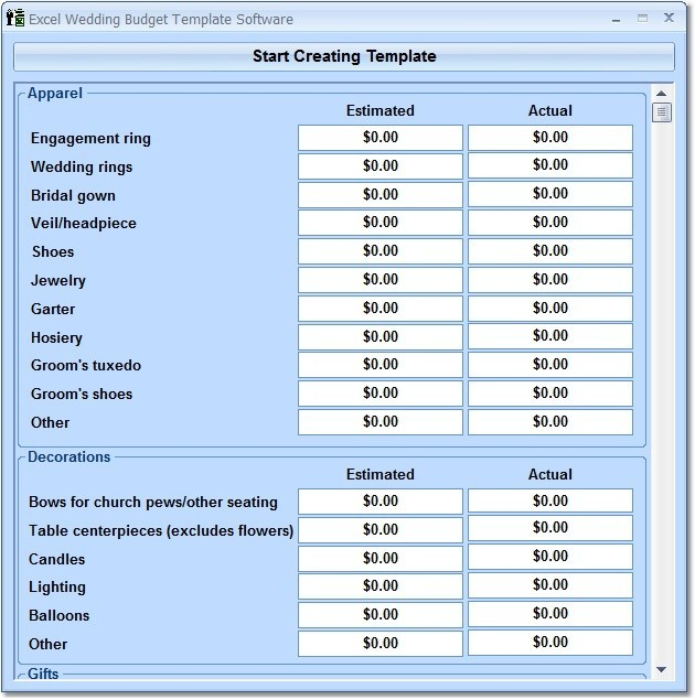 Budget Business Plan Excel Tools For Data