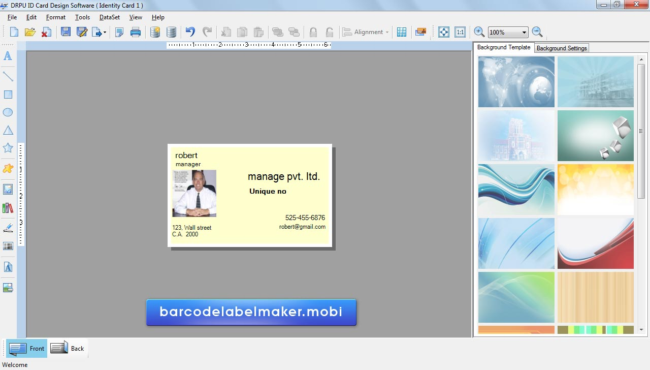business card maker free no download  vertical business cards