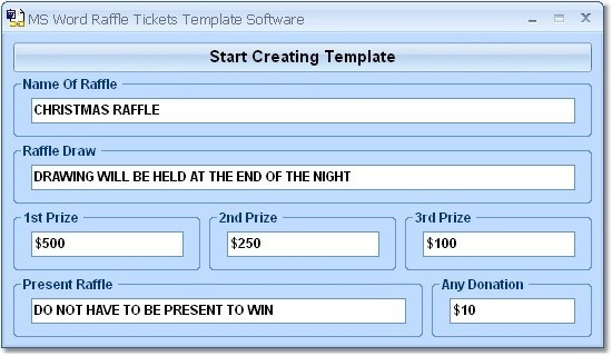 Doc12951670 Raffle Ticket Template Free Microsoft Word Free – Winning Ticket Template