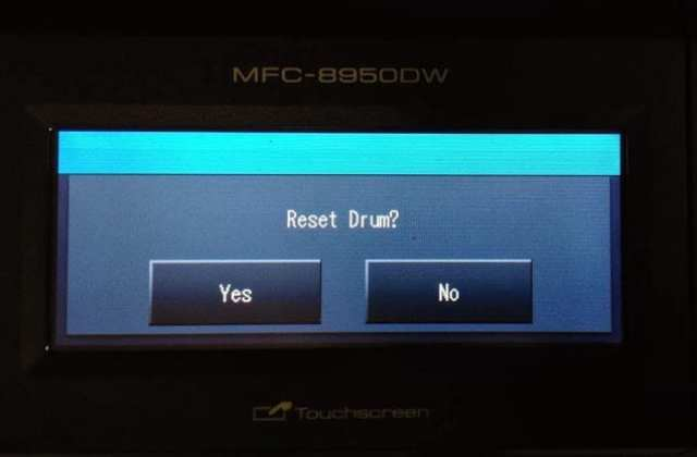 how to clear replace drum message on brother printer