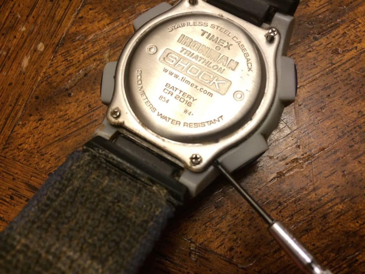 how to change a timex watch battery