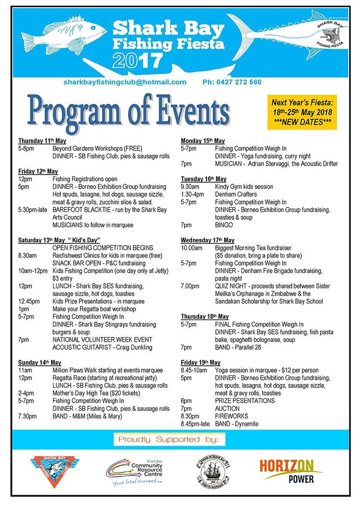 Shark Bay Annual Fishing Fiesta - Event Program - Event Program