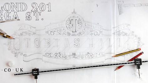 Tobias Hall Handlettered Branding