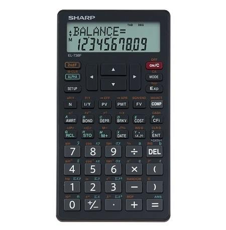 SHARP EL-738 Financial Calculator (Sharp EL738) recommended by UNISA