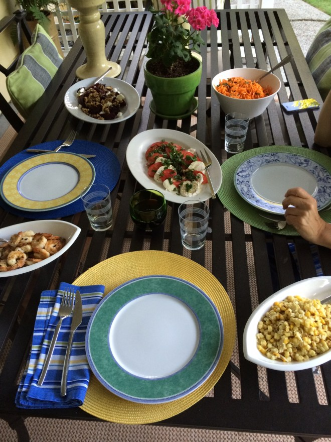 Grilled Corn Table setting