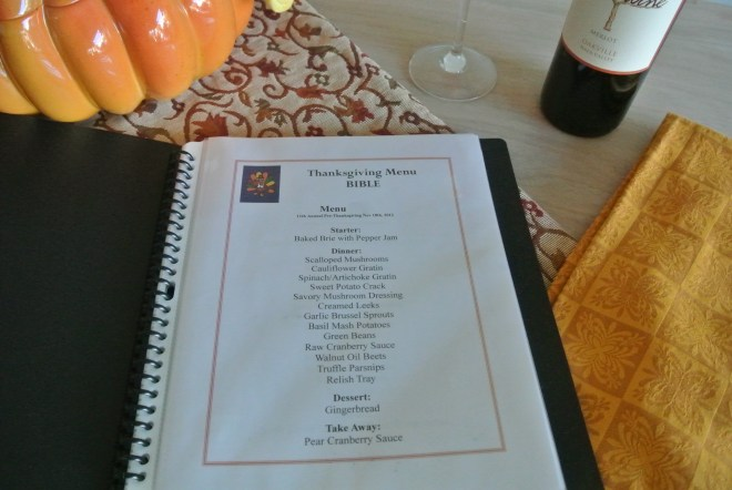 Thanksgiving Table of Contents