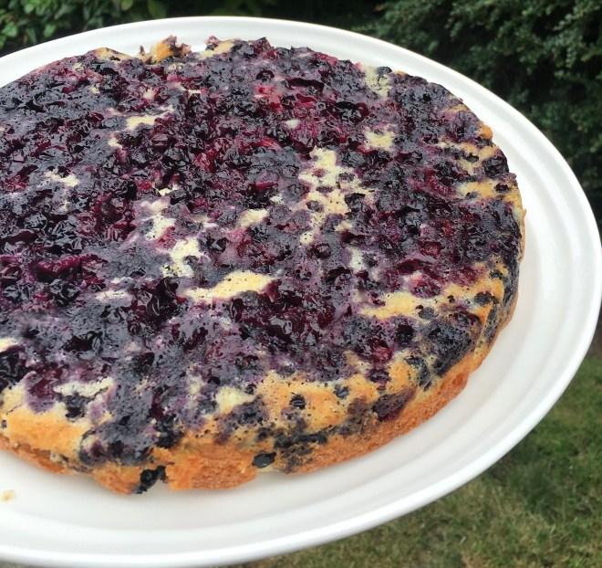 Blueberry Maple Upside-Down Cake