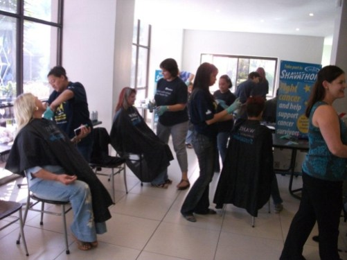 Shavathon Sanlam 2012 Hustle and bustle at Sanlam's Corporate Shavathon