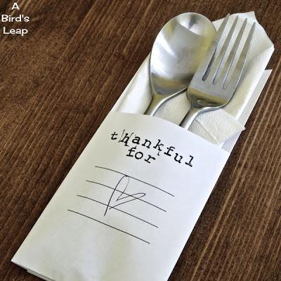 DIY Thanksgiving utencil holder 6
