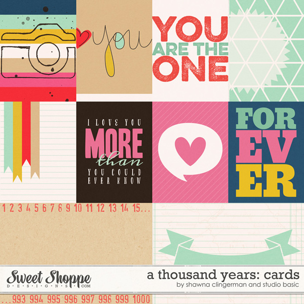 A Thousand Years Cards by Shawna Clingerman and Studio Basic