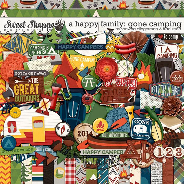 A Happy Family Gone Camping by Shawna Clingerman and Traci Reed