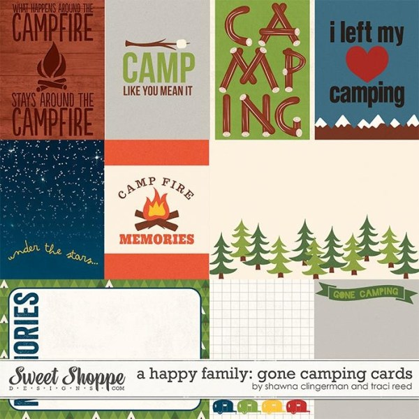A Happy Family Gone Camping Cards by Shawna Clingerman and Traci Reed
