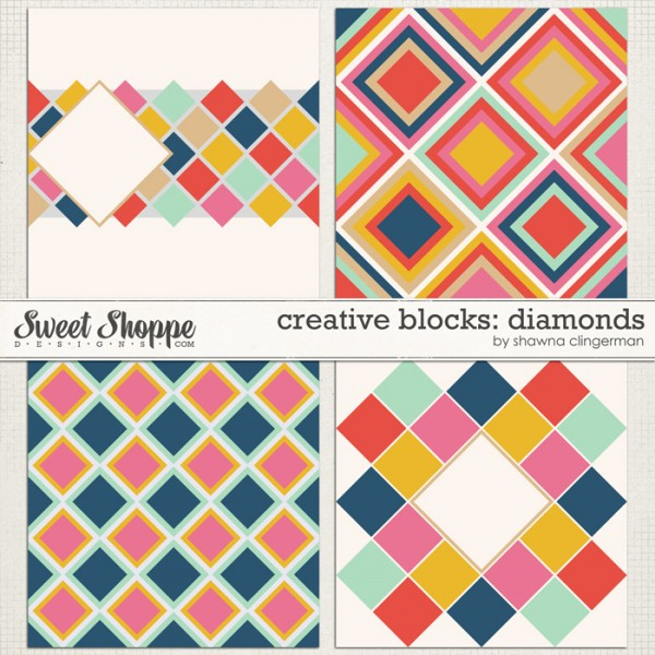 Creative Blocks Diamonds by Shawna Clingerman