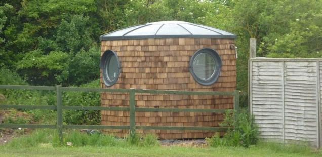 O-Pod - an eco shed or odd shedworking office, you decide?