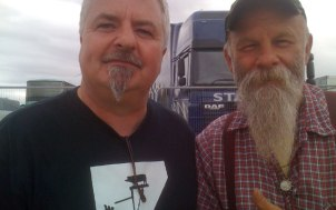 Jon Earl and Seasick Steve - Steve has the longer beard :)