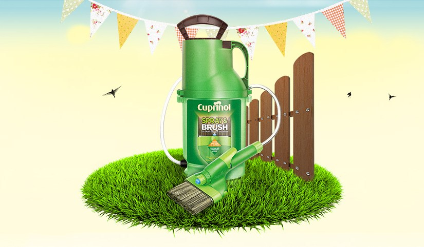 Win a Cuprinol Spray & Brush to cheer up your garden & shed