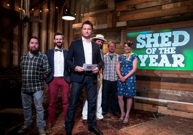 George Clarke and The Shed of the Year finalists