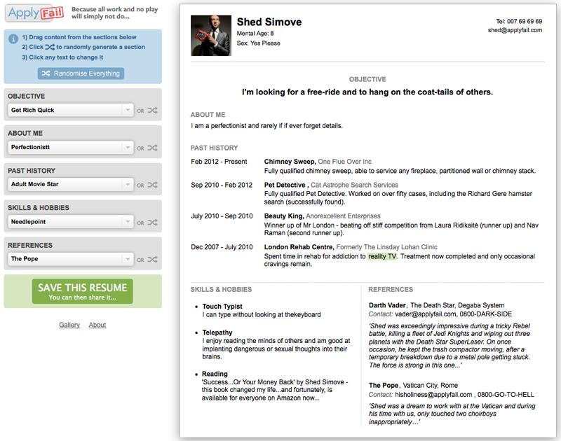 online resume maker latex