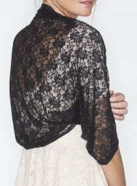 Sheeebz - Evening shawls & Wraps - Black lace shawl