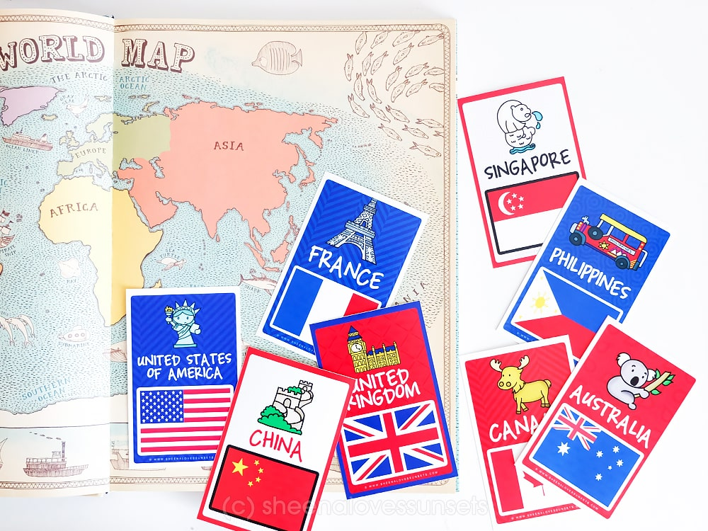 World Flags Printable Flash Cards (FREE DOWNLOAD)