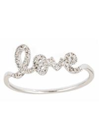 Sydney Evan Love Rings | Diamond Love Rings | Cursive Love ...