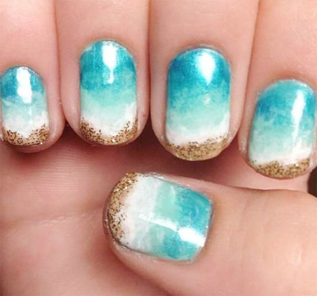 30 Outstanding Beach Nail Art Ideas Images 2018