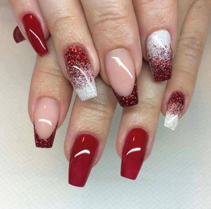 25 Hottest and Cute Red Nail Designs 2018