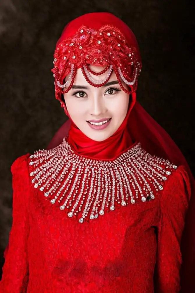 Simple Pakistani Girl Wallpaper 25 Beautiful Bridal Hijab Designs For Wedding Sheideas
