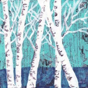 Idle. 4 x 4 acrylic on gallery wrapped canvas. © 2015 Sheila Delgado